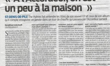 Article – The Hyènes : «À l'Accordeur on est un peu comme à la maison» !