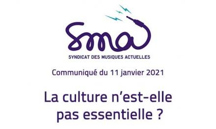 Communiqué SMA – La culture n'est-elle pas essentielle ?