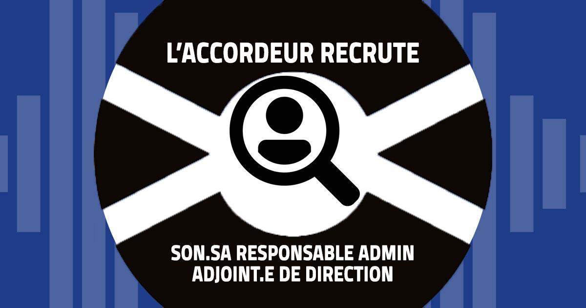 L'Accordeur recrute son.sa responsable administratif.ve – adjoint.e de direction